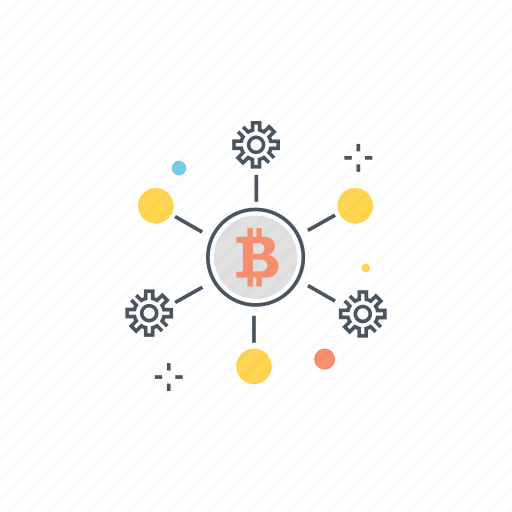 bitcoin, cryptocurrency, network, node, nodes, p2p, peer to peer icon