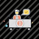 otc, trading, bitcoin, counter, exchange, trade, transfer icon
