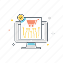 cart, checkout, payment, retail, shopping, system, technology icon