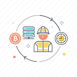 bitcoin, disk, memory, mining, proof of capacity, proof of space, space, storage icon
