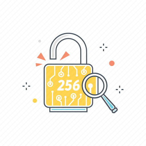 256, algorithm, cryptographic, hash, secure, sha, signature icon