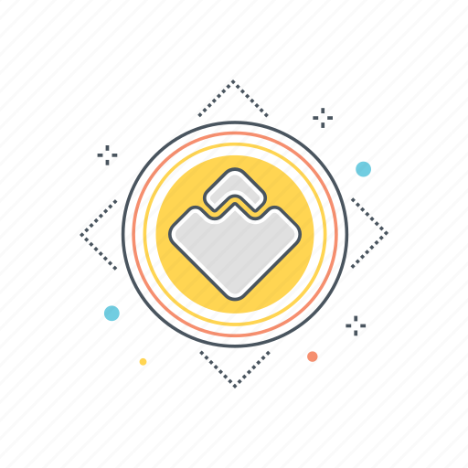 blockchain, crypto, cryptocurrency, platform, technology, token, waves icon