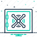conservancy, deposit, money, protecting, protection, safebox, security icon