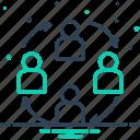 employee, harmony, management, partnership, synergy, teamwork, unity icon