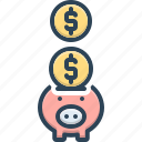economy, finance, investment, money, piggy bank, save, wealth