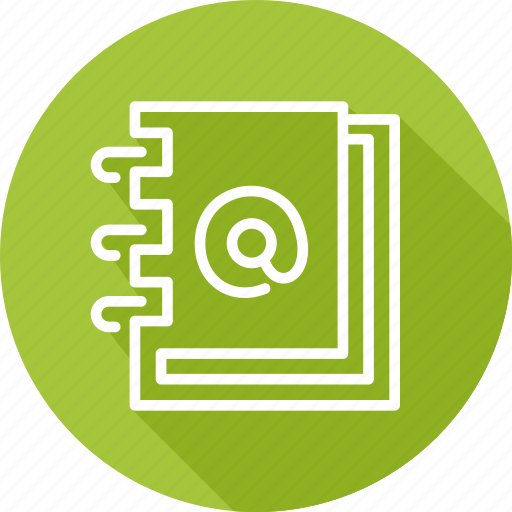 book, business, contact, modern icon