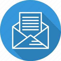 business, email, letter, modern icon