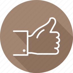business, modern, thumbs, up icon