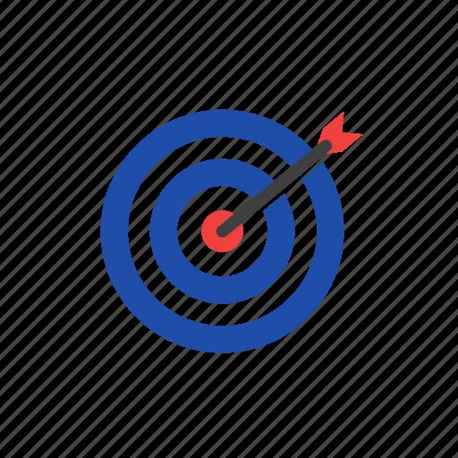 arrow, business, finance, success, target icon