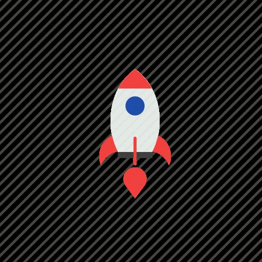 business, finance, launching, rocket, start up icon