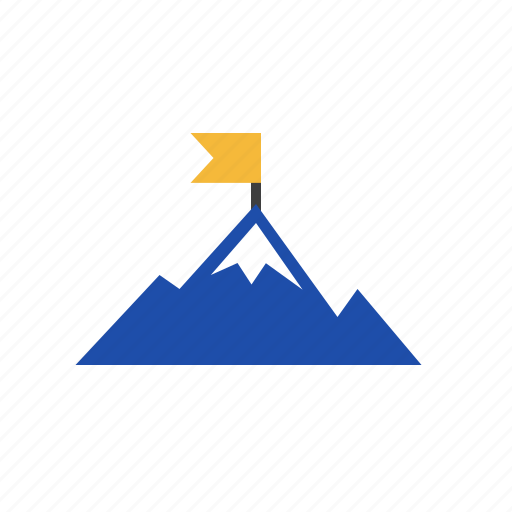achievment, business, finance, mountain, success icon