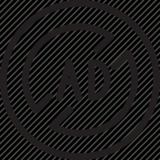 ad, blocker, business, modern icon