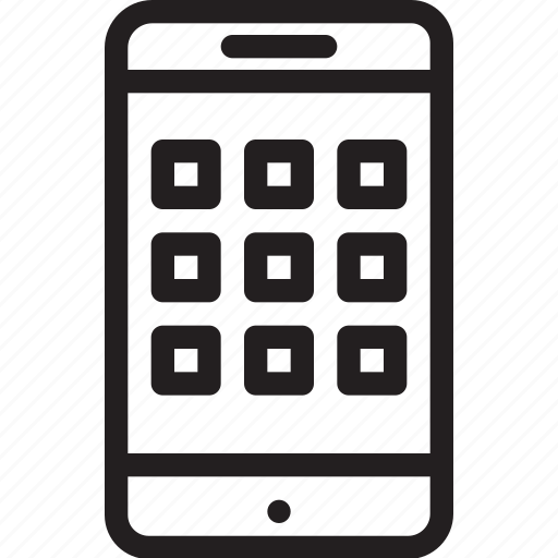 business, modern, phone, smart icon