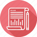 business, modern, papers icon