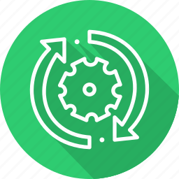 business, modern, production, wheel icon