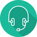 business, headset, modern, support icon