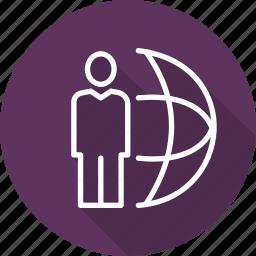 business, forum, global, modern icon