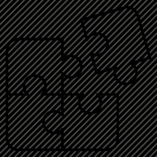 business, jigsaw, match, piece, puzzle, success icon
