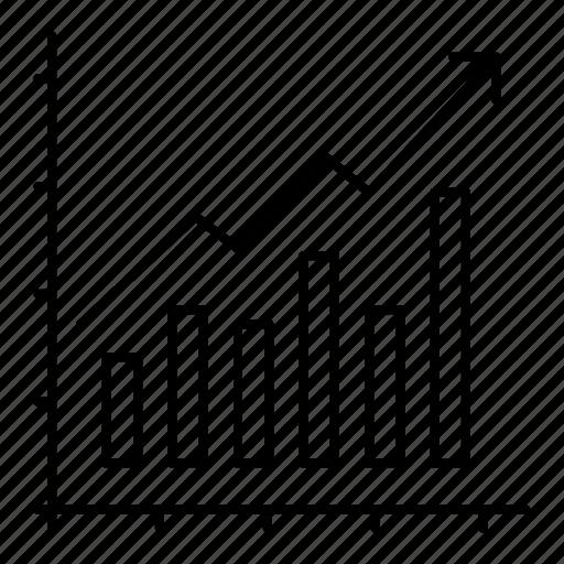 analytics, business, diagram, graph, marketing, statistics, trends icon