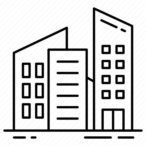 architecture, buildings, business, office, real estate, skyscraper icon