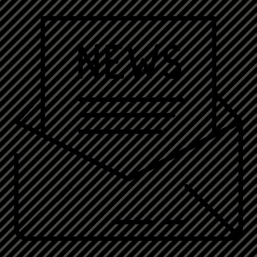 business, corresponding, letter, news icon