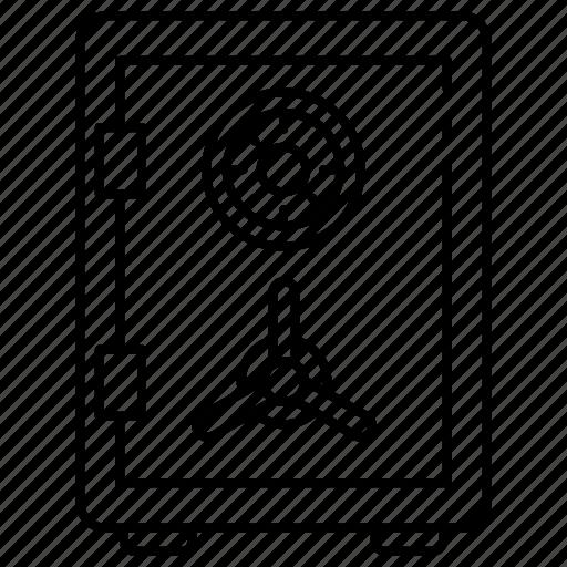 bank, deposit, lock, money, safety, security icon