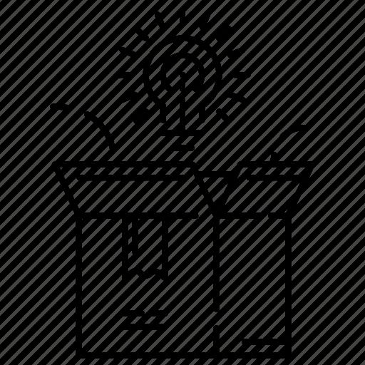 box, business, idea, solution icon
