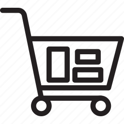 business, cart, modern, shopping icon