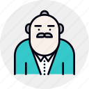 avatar, banker, boss, businessman, ceo, executive, grandfather, senior icon