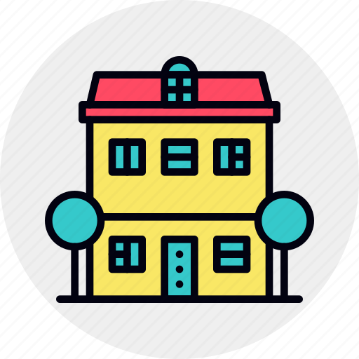 apartment, building, exterior, home, house, townhouse icon
