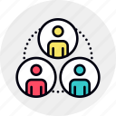 collaboration, group, hierarchy, people, social, team, teamwork icon