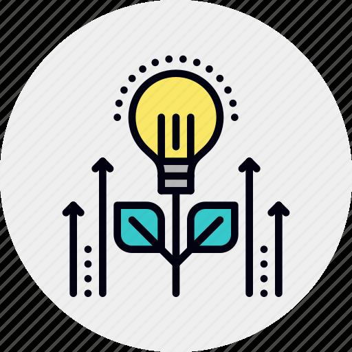 development, growth, idea, new icon