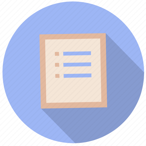 check list, document, file, information, list, paper icon