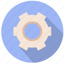 cog, create, develop, gear, manufacture, performance, teamwork icon