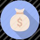 bag of coins, coin bag, coins, dollar, dollars, money, wealth