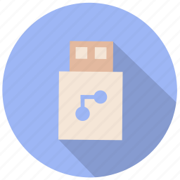 computer, data, file, files, storage, usb, usb port icon