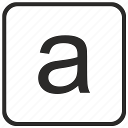 a, alphabet, english, keyboard, letter, lowercase, vurtual icon