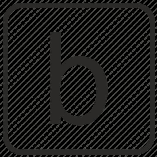 alphabet, b, english, keyboard, letter, lowercase, vurtual icon