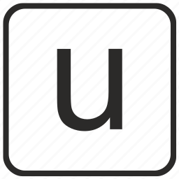alphabet, english, keyboard, letter, lowercase, u, vurtual icon