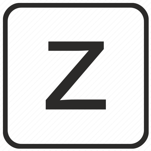 alphabet, english, keyboard, letter, lowercase, vurtual, z icon