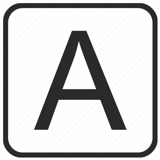 a, alphabet, english, keyboard, letter, uppercase, vurtual icon