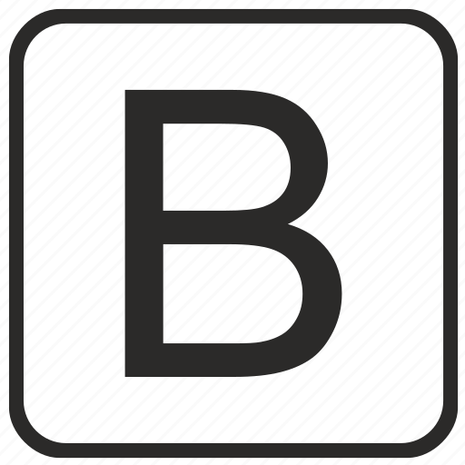 alphabet, b, english, keyboard, letter, uppercase, vurtual icon