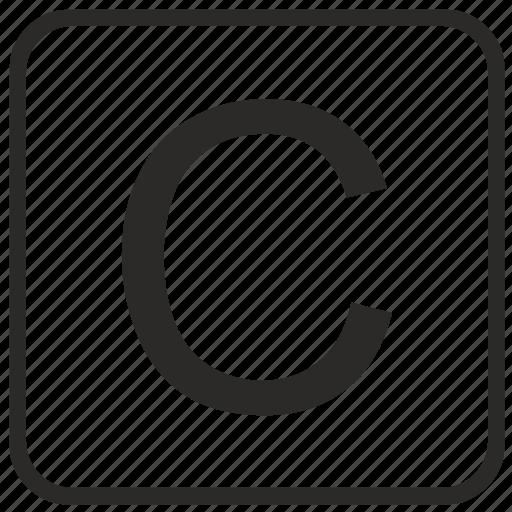 alphabet, c, english, keyboard, letter, uppercase, vurtual icon