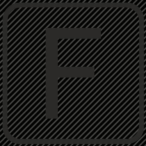 alphabet, english, f, keyboard, letter, uppercase, vurtual icon