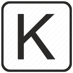 alphabet, english, k, keyboard, letter, uppercase, vurtual icon