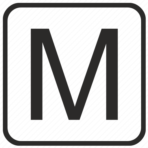 alphabet, english, keyboard, letter, m, uppercase, vurtual icon