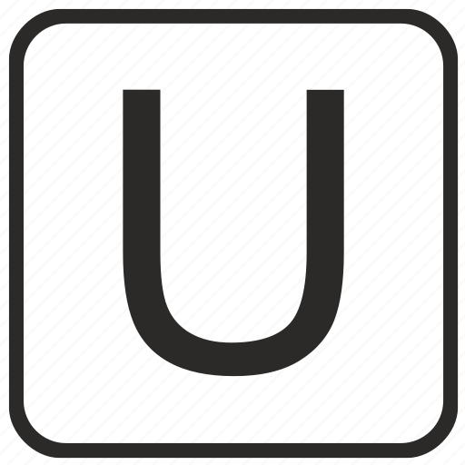 alphabet, english, keyboard, letter, u, uppercase, vurtual icon