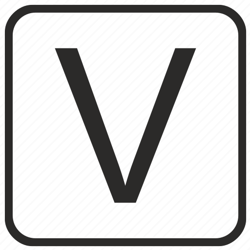 alphabet, english, keyboard, letter, uppercase, v, vurtual icon