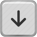 arrow, bottom, down, function, key, keyboard icon