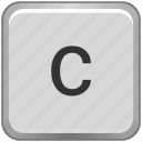 c, case, key, keyboard, lower icon